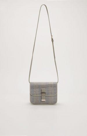 Шкіряна сумка з вставкою маніли Fabiana Filippi SS21