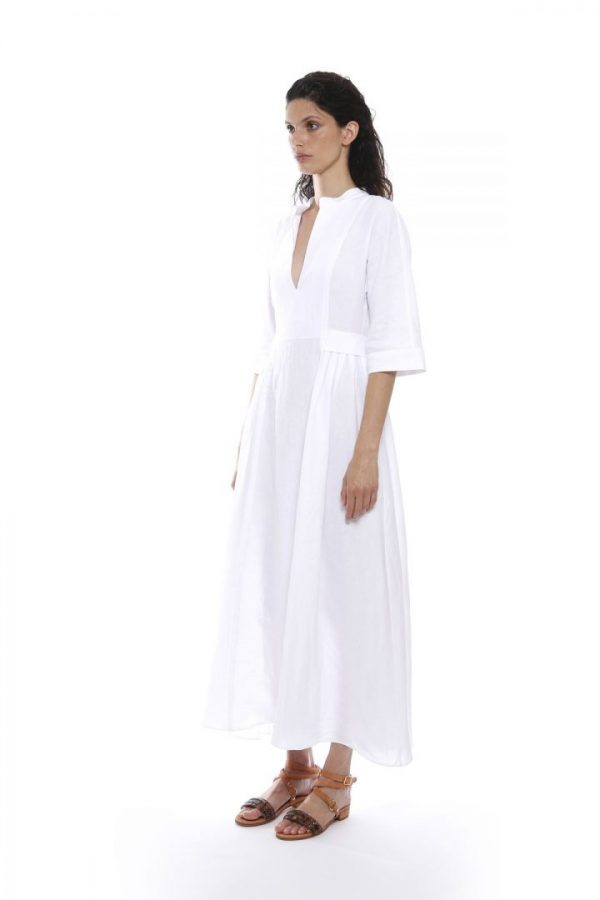 Білосніжне льняне плаття Eleventy