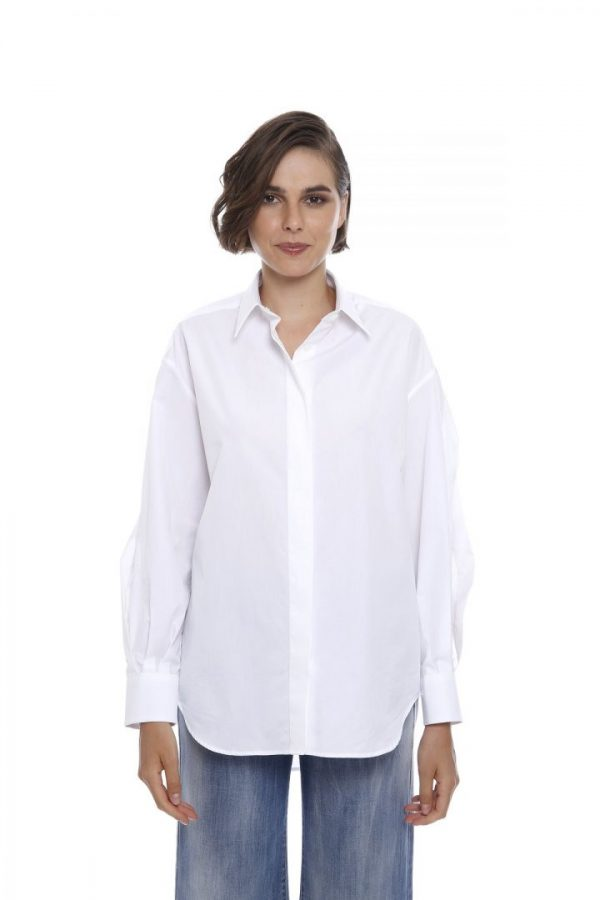 Блуза з розрізами на рукавах Eleventy