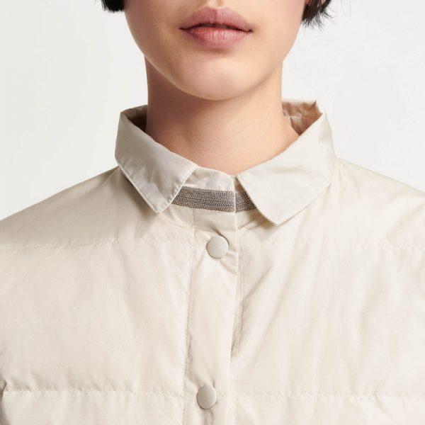 Куртка з манілою у перлиновому кольорі Fabiana Filippi