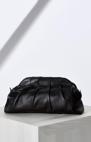 Чорна шкіряна сумка з ланцюжком Fabiana Filippi