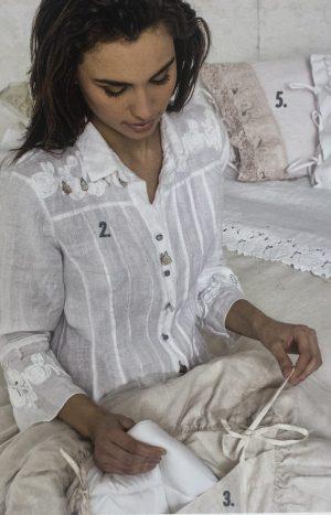Мереживна блуза льон Arte Pura