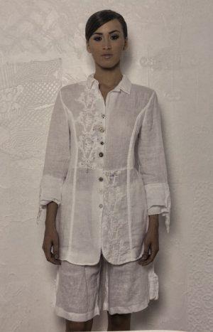 Блуза льон з мереживом Arte Pura