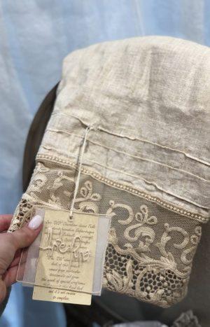 Рушник льон з мереживом РТ