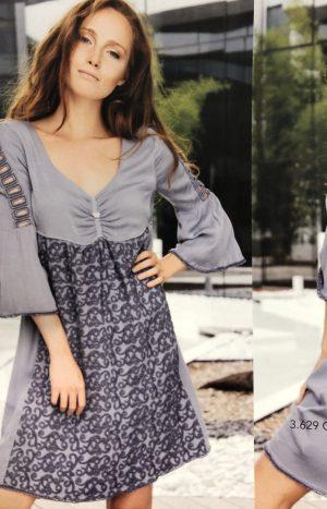 Плаття з мереживом у синьому кольорі АР