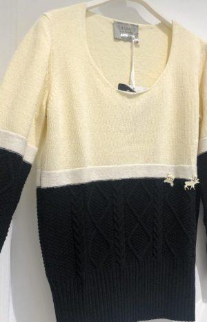 Стильний светр чорного та молочного кольорів ЕС