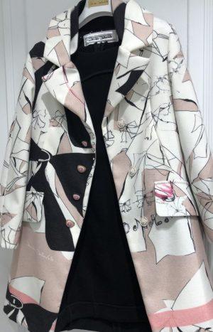 Пальто з принтом Daniela Dallavalle оверсайз