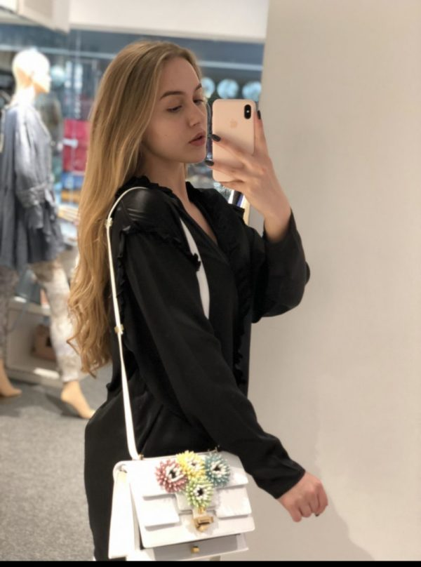 Блуза шовк (nude)