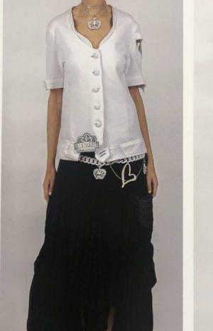 Стильна юбка темносинього кольору ЕС
