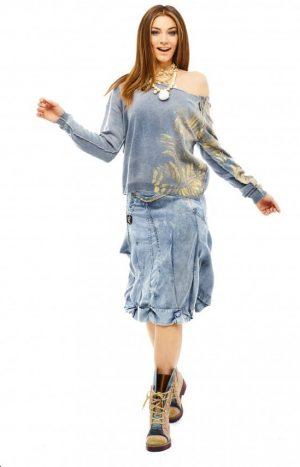 Спідниця з декоративною збіркою по низу Elisa Cavaletti