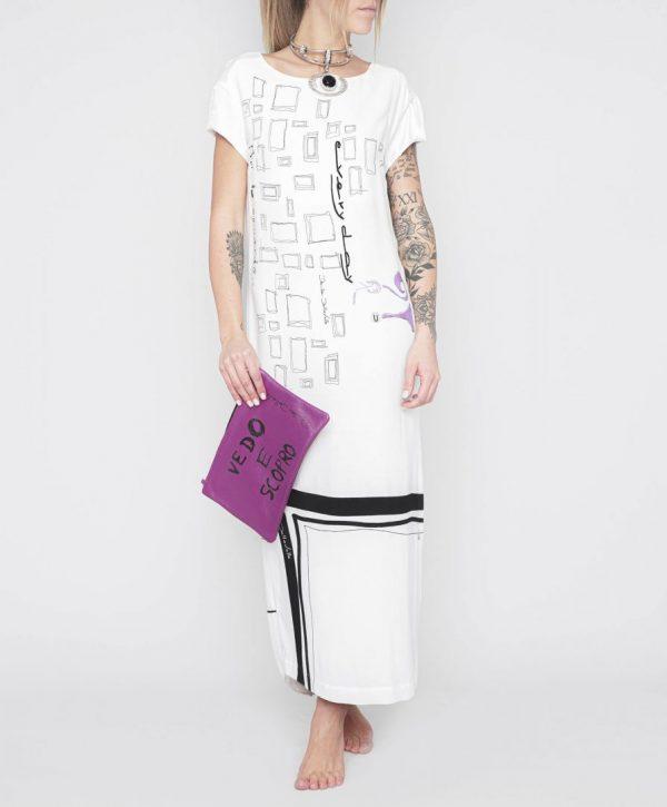 Довге плаття з принтом Daniela Dallavalle